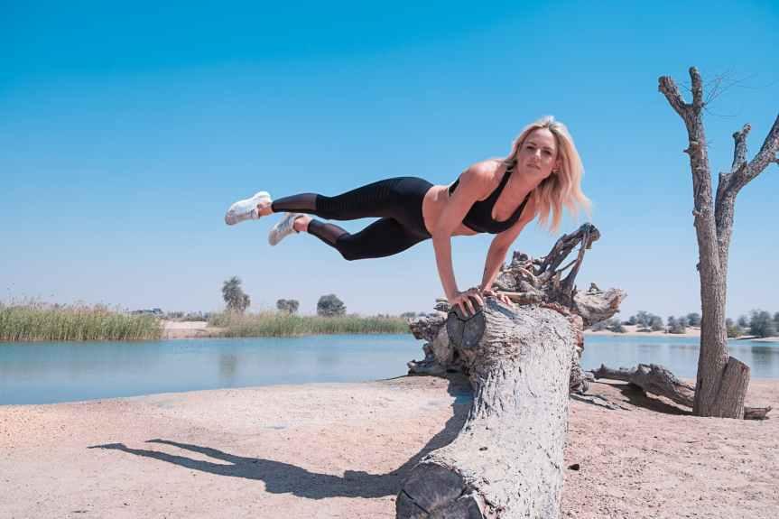woman balancing